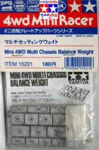 15221 - Mini 4WD Multi Chassis Balance Weight