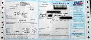 JNE 2011-11-04  Bekasi