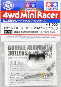 #94714 - Double Alumunium Rollers (13-12mm,Black)