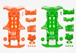 #94839 - VS Flourenscent -  Color Chassis Sets (Orange-Green)