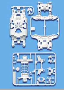 #94855 - MS Reinforced Chassis Set (White)