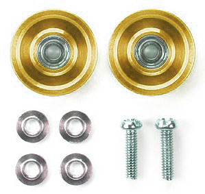 #94862 - 13mm Aluminum Ball-Race Rollers (Ringless/Gold)