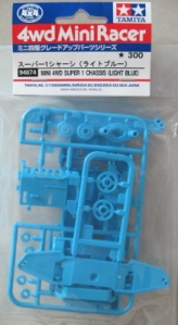#94874 - Mini 4WD Super 1 Chassis (Light Blue)