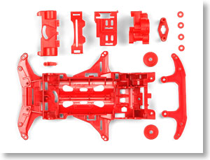 #94677 - Mini 4WD Reinforced VS Chassis (Red)