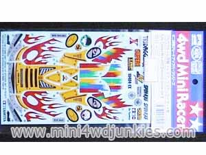 15127 - Fully Cowled Mini 4wd Dress Up Sticker Set B